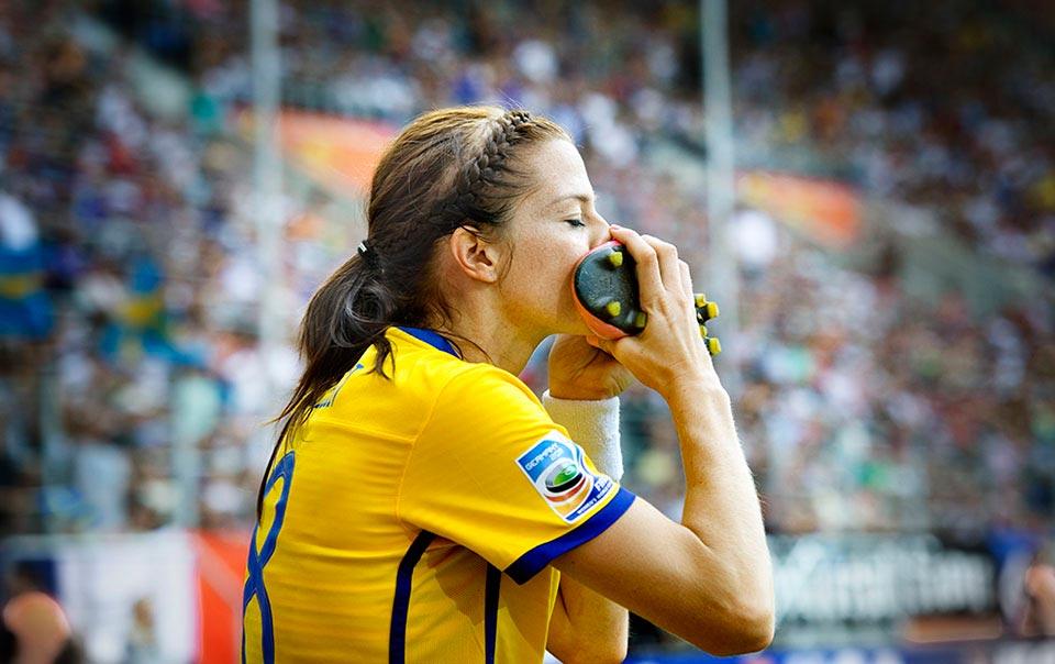 Lotta Schölin, fotbolls VM 2011.