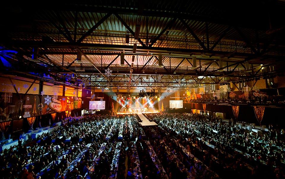 Julgalan på Conventum Arena.