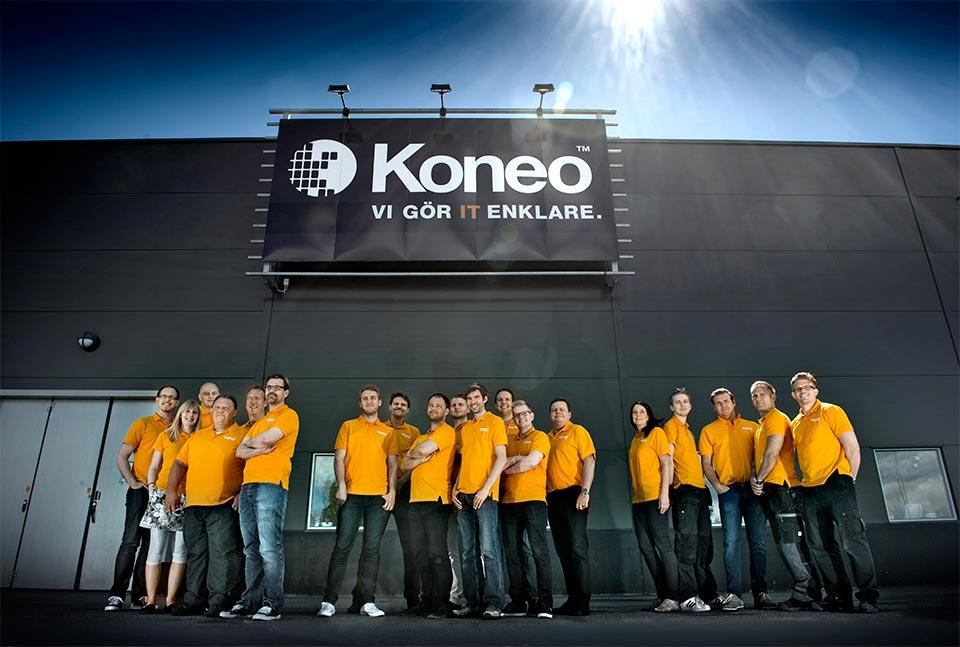 Uppdrag åt Koneo. Personal till hemsida mm.