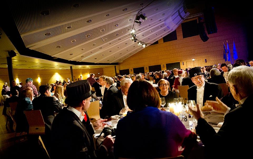 Conventum Congress fylldes av universitetets gäster.