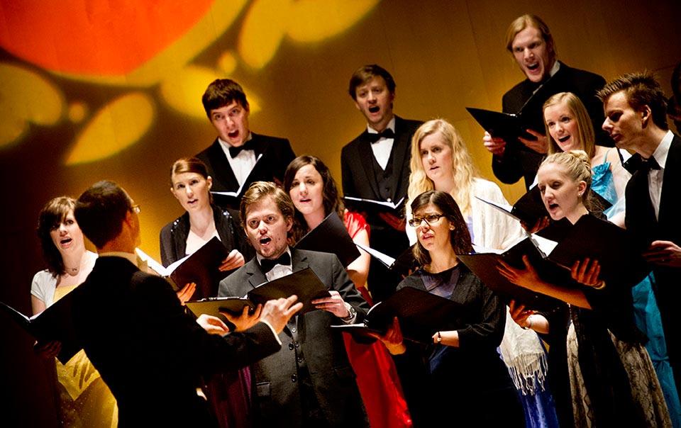 Underhållning i konserthuset under Årshögtiden.
