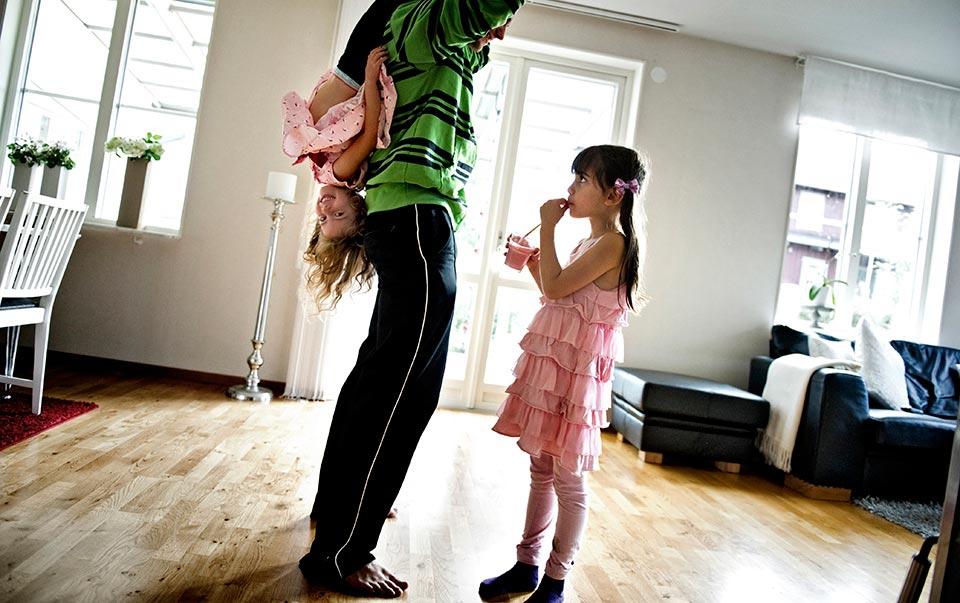 Alva Thorén 6 år. En dag med en sexåring.
