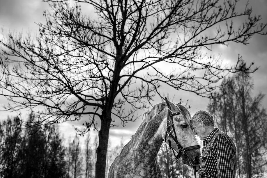 Göte lindblom är 75 år ung och har bytt ett aktivt liv mot ett annat. Från engagerad företagare till passionerad hästägare, men att sköta om en häst är inte riktigt nog för Göte. På sin gård i Skråmsta driver han även en ridanläggning. En sysselsättning som gör det möjligt att spendera mycket tid tillsammans med bästa polaren.