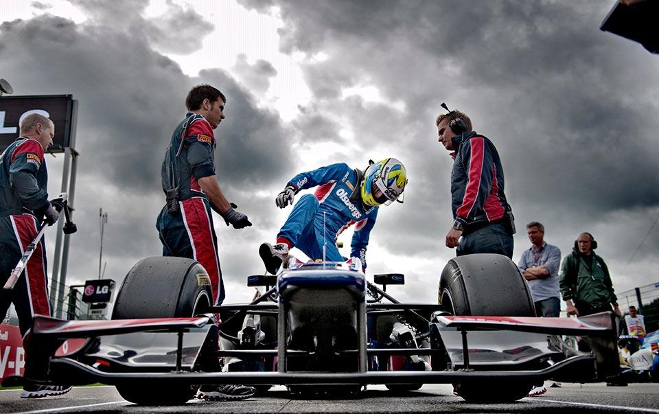 Marcus Ericsson. GP2 Spa Francorchamps Belgien.