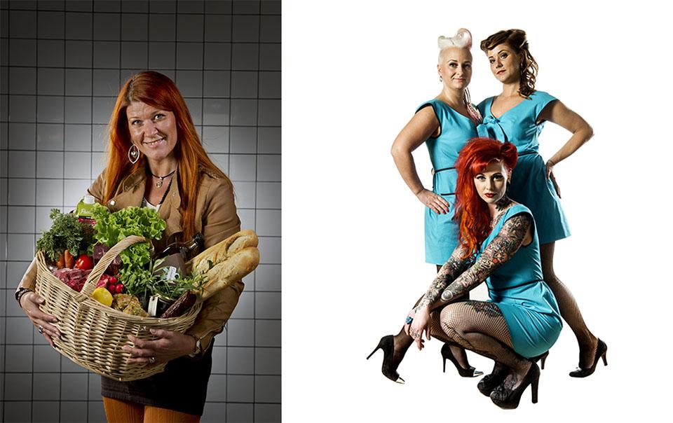 Annons till Örebros Saluhall och annons till Jessies Barbershop.